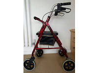 Rollator walking aid Light weight and easy to manage