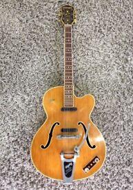 Hofner President Thin electro acoustic 1959 - 1960 Blonde serial no 156