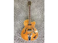 Hofner President Thin electro acoustic 1959 - 1960 Blonde serial no 156