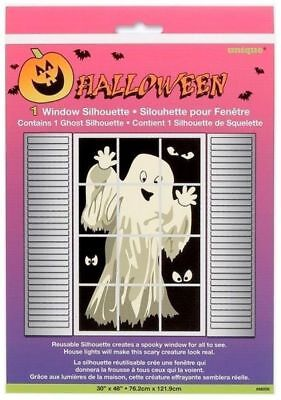 "Window Silhouette Halloween (HALLOWEEN Window SILHOUETTE Ghost 30""X48"" Decoration)"