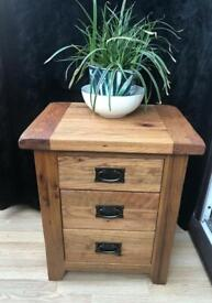 Rustic Oak Bespoke Heavy wood Drawer Chest.