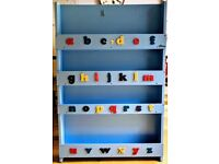 Tidy books children bookcase - original blue