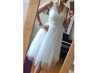 Knee length Daphne wedding dress, size 8