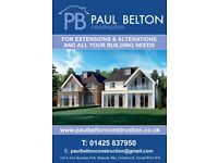 Local well established builder, available for new builds, extensions and alterations.