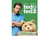 BRAND NEW SEALED - TED 1 & 2 MOVIE BOXSET DVD