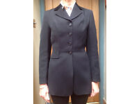 Horse Riding Show Jacket, Black, Harry Hall, small ladies / girls