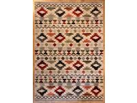 Florence White Paper Red/Blue/Beige Rug