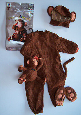 Tom Arma Monkey Toddler Costume 4/4t-5/5t Signature Collection W/ Plush Toy