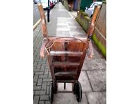 2 X VICTORIAN GENUINE ANTIQUE RAILWAY PORTERS MARKET BARROWS MAKER STAMPED GOOD CONDITION 2 X ITEMS