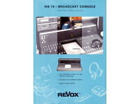 REVOX MB16 / STUDER 916 RETRO LARGE FORMAT RADIO BROADCAST MIXER BOARD DESK. COMMUNITY / RSL. LOCAL