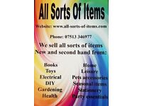 Books, Toys, Electrical, DIY, Gardening, Health Home, Leisure, Pet accessories, and more