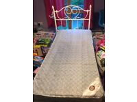 Metal bed frame and matress