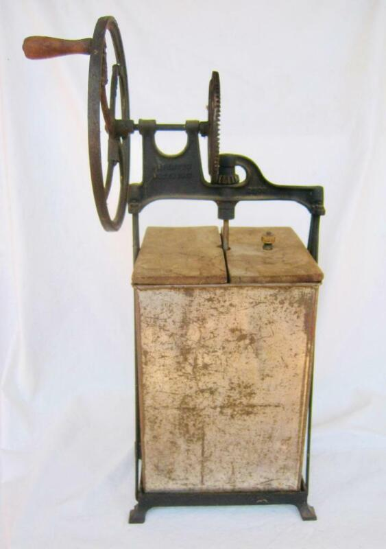 Antique Dazey Butter Churn Model  230B Tin Wood Iron Steel Working 2 Gallon