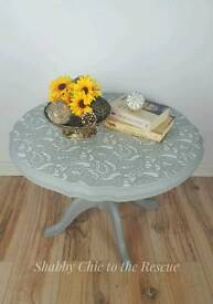 Round grey coffee table