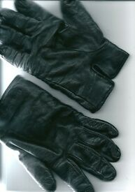 Pair Of Emporio Armani Gloves / Leather / Wool