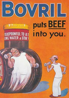"BOVRIL "" PUTS THE BEEF INTO YOU. "" POSTCARD"