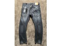 Men's jeans size32R. Grey. New never worn