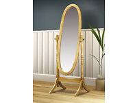 Julian Bowen Pickwick Pine Cheval Mirror