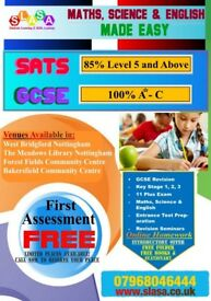Two Sessions in West Bridgford - Maths, Science & English Tuition KS1 & KS2 £7.50/h KS3 & GCSE £10/h