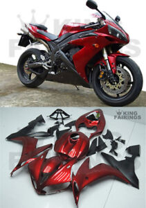 New Red Black Injection Plastic Kit Fairing Fit for Yamaha 2004-2006 YZF R1 j22