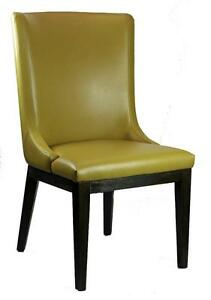 Mustard Color Leather Dining Room Chair