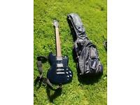 Electric guitar with bag and stuff