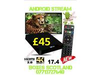 2018 W95 tv box with latest 7.1 software & full entertainment bundle installed