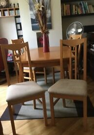 DINING TABLE AND CHAIRS (EXTENDABLE)