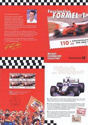BRD 1999: Michael Schumacher! Erinnerungsblatt mit Viererblock der Nr 2032! 1609