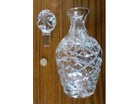 Glass drinks bottle with stopper
