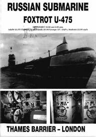 Russian Submarine Foxtrot U-475 Brochure and news article 1996