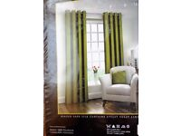 "One Pair Eyelet Curtains Fully Lined 90""×90"" Brand New & Unopened"