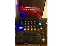 2 x Pioneer CDJ 900. DJM 850k. Traktor Scratch Pro 2. Pair of UDG Pioneer Pro DJ bags.