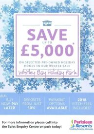 ***JANUARY SALE NOW ON WHITLEY BAY HOLIDAY PARK SITE FEES INCLUDED UNTIL 2019 EXCELLENT STOCK***
