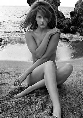 1960s nude Jane Fonda on beach fridge magnet - new