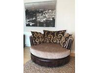 Large cuddle chair / love armchair