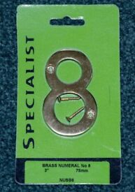 Brass Numeral Number 8
