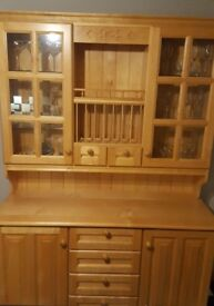 FOR SALE: Fully fitted, solid wood kitchen, includes island, dresser and appliances.