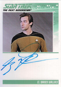 Complete-Star-Trek-TNG-Series-2-Autograph-Card-Guy-Vardaman-as-Lt-Wallace