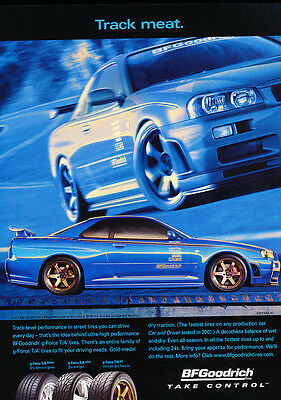 2002 BF Goodrich Nissan Skyline GTR - Classic Vintage Advertisement Ad H21