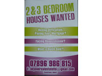 TWO AND THREE BEDROOM HOUSES WANTED IN INVERCLYDE!!! SEE IMAGE ATTACHED