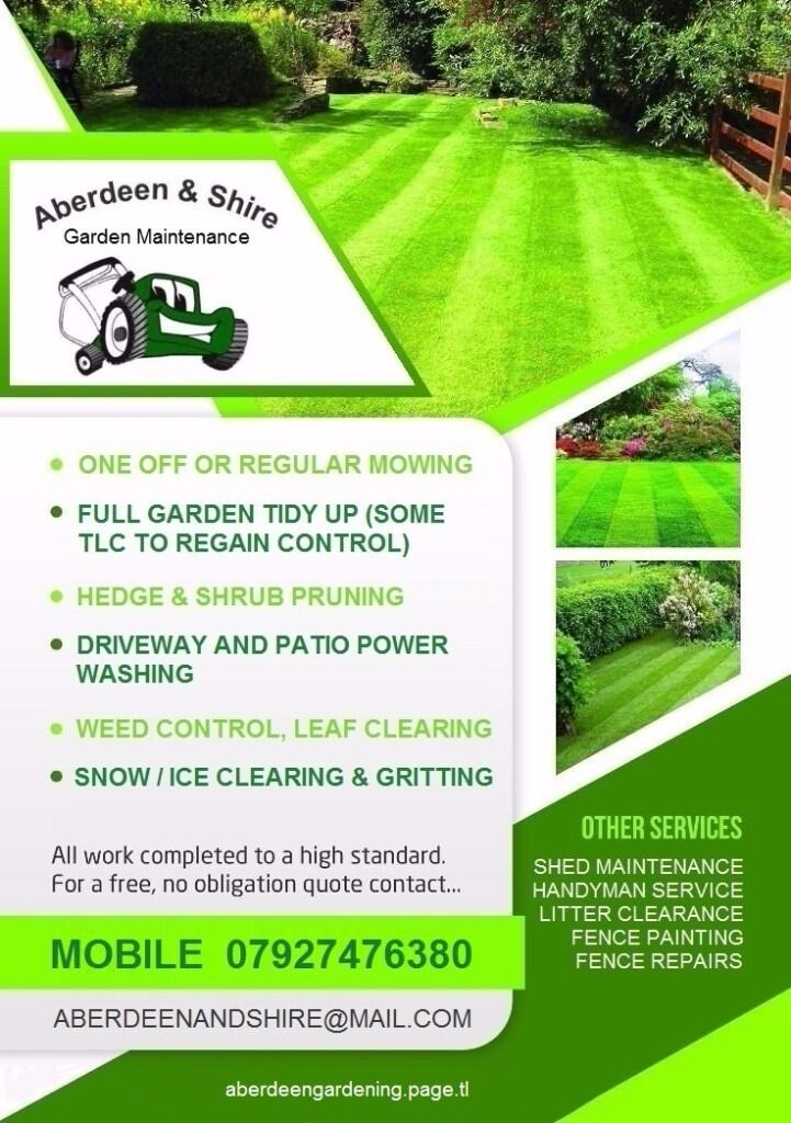 ABERDEEN SHIRE GRASS CUTTING GARDEN MAINTENANCE SERVICES