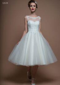 LouLou Tea length Wedding Dress - Size 10