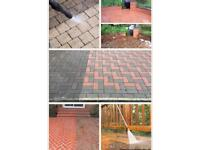 Driveways patios walls block paving decking roofing guttering cleaning services..
