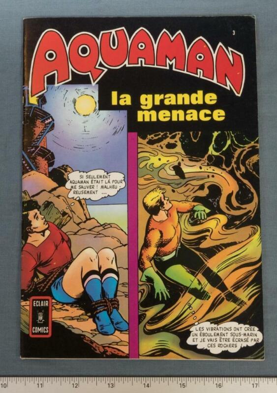 Aquaman La Grande Menace French edition Comic Book dq