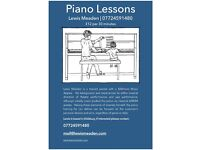 Piano Lessons | Lewis Meaden | £12/30mins