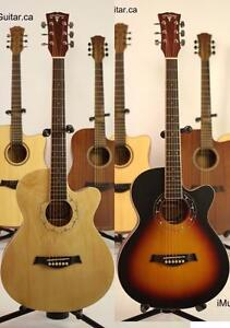 On Sale ! 2 Acoustic guitars for $160 Natural and Sunburst Brand New Free Delivery