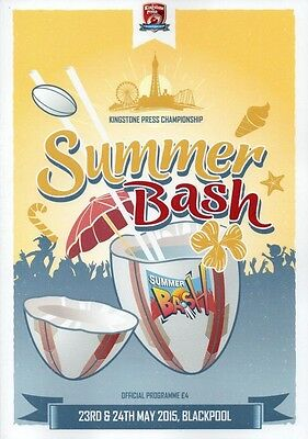 KINGSTONE PRESS CHAMPIONSHIP SUMMER BASH RUGBY LEAGUE PROGRAMME 23/24 May 2015