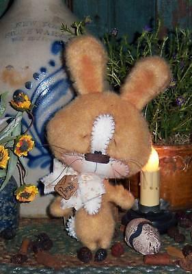 Primitive Raggedy Bunny Rabbit Doll Ornie Paper Pattern #572