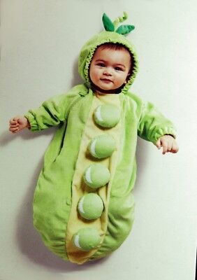 Baby Girls Boys Peapod Pea in the Pod Halloween Costume Purim NB 6 Months NEW